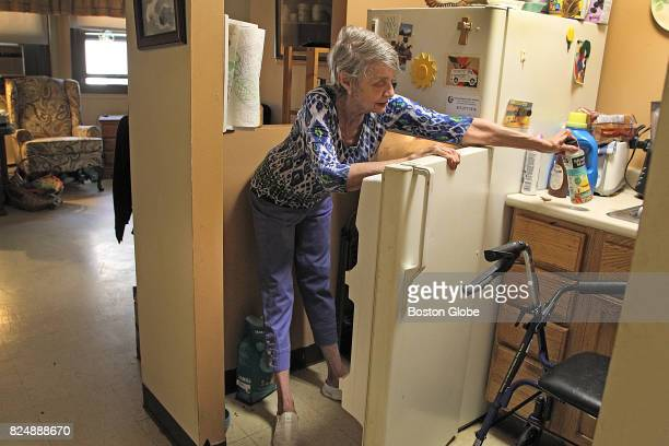 Former flight attendant and library worker Judi Gorsuch inside her home in public housing in Boston July 21 2017