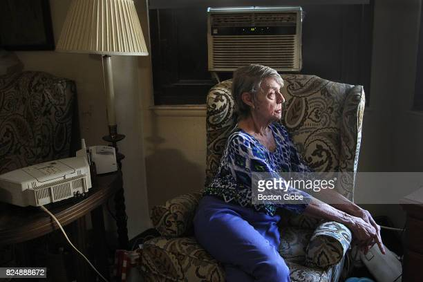Former flight attendant and library worker Judi Gorsuch poses for a portrait inside her home in public housing in Boston July 21 2017