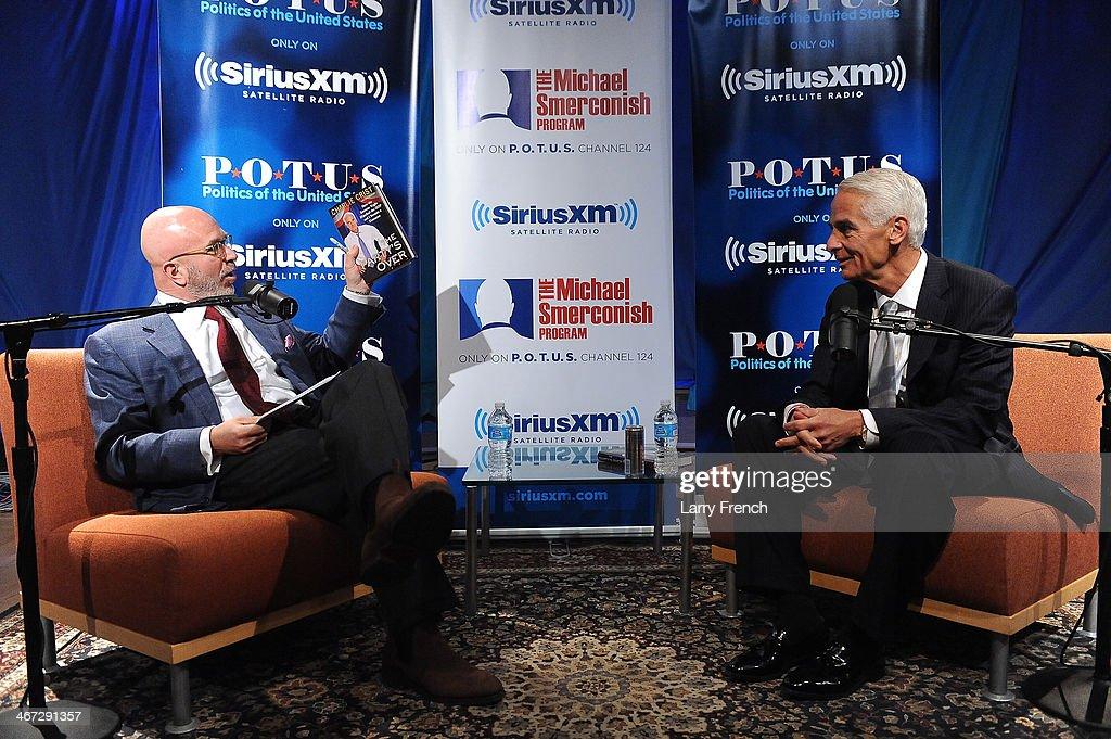 Former Florida Governor Charlie Crist Visits SiriusXM - Washington DC