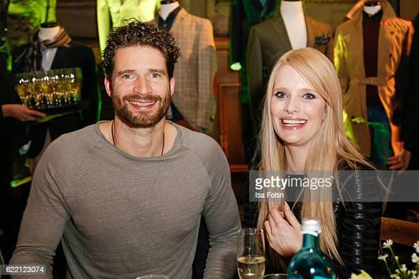 Former football player Arne Friedrich and model Mirja du Mont attend the La Martina x GQ PreDinner on November 9 2016 in Berlin Germany