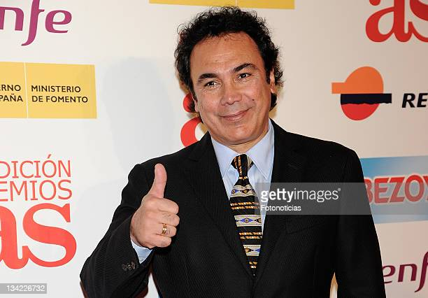 Former football player Hugo Sanchez attends 'As Awards2011' ceremony at the Westin Palace Hotel on November 28 2011 in Madrid Spain