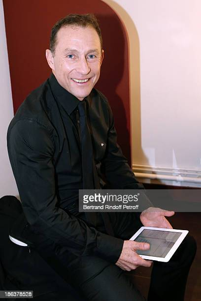 Former Football player JeanPierre Papin attends the 'Vivement Dimanche' French TV Show at Pavillon Gabriel on October 30 2013 in Paris France