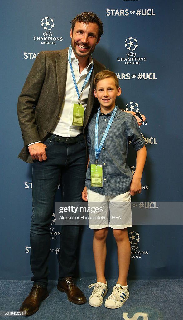 Former football player Mark van Bommel and guest attend the UEFA Champions League Final between Real Madrid and Club Atletico de Madrid at Stadio Giuseppe Meazza on May 28, 2016 in Milan, Italy.