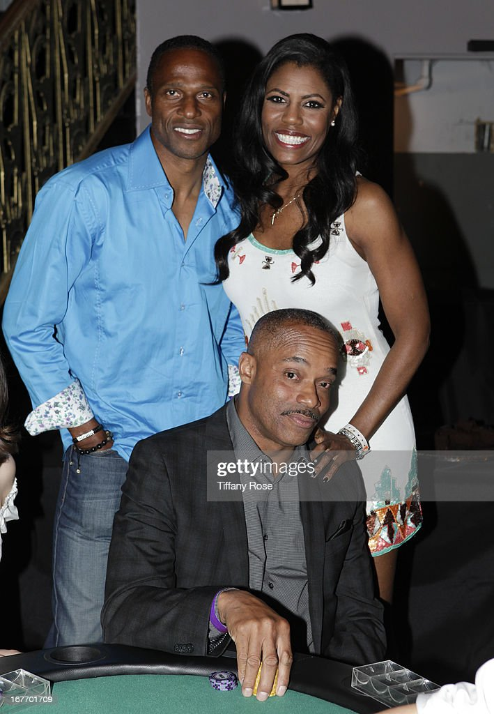 Former football player <a gi-track='captionPersonalityLinkClicked' href=/galleries/search?phrase=Willie+Gault&family=editorial&specificpeople=779621 ng-click='$event.stopPropagation()'>Willie Gault</a>, TV personality Omarosa Manigault and actor Rocky Carroll attend Los Angeles Police Memorial Foundation's Celebrity Poker Tournament at Saban Theatre on April 27, 2013 in Beverly Hills, California.