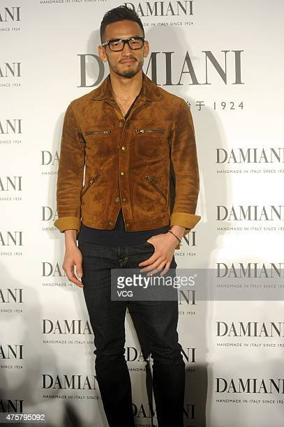 Former football star Nakata Hidetoshi of Japan attends the press conference of 'Damiani Metropolitan Dream Collection By H Nakata' on June 3 2105 in...