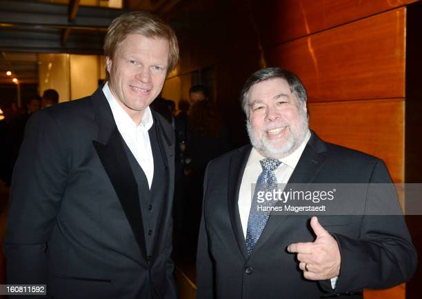 Former football star Oliver Kahn and Steve Wozniak cofounder Apple attend the Best Brands 2013 Gala at Bayerischer Hof on February 6 2013 in Munich...