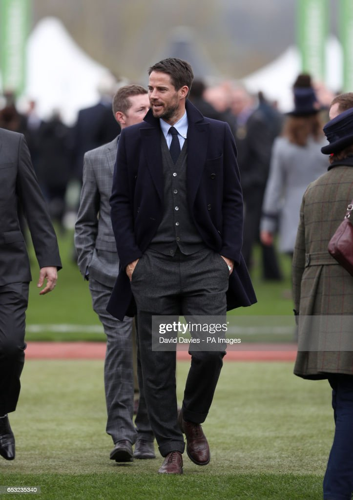 Former footballer and horse owner Michael Owen during Champion Day of the 2017 Cheltenham Festival at Cheltenham Racecourse.