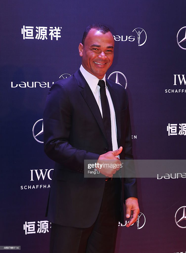 Former Footballer Cafu of Brazil attends the 2015 Laureus World Sports Awards at Shanghai Grand Theatre on April 15, 2015 in Shanghai, China.