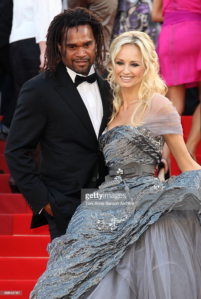 Former footballer <a gi-track='captionPersonalityLinkClicked' href=/galleries/search?phrase=Christian+Karembeu&family=editorial&specificpeople=228704 ng-click='$event.stopPropagation()'>Christian Karembeu</a> and model <a gi-track='captionPersonalityLinkClicked' href=/galleries/search?phrase=Adriana+Karembeu&family=editorial&specificpeople=207098 ng-click='$event.stopPropagation()'>Adriana Karembeu</a> attend the premiere of 'Biutiful' held at the Palais des Festivals during the 63rd Annual International Cannes Film Festival on May 17, 2010 in Cannes, France.