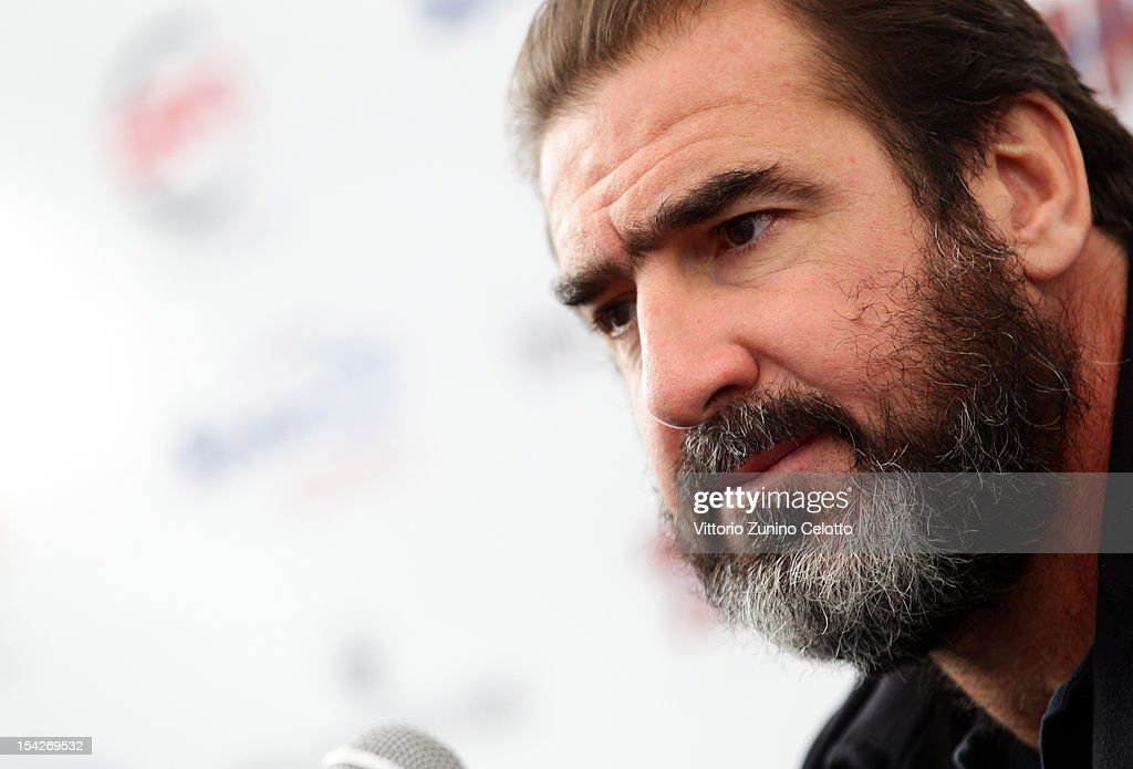 Former footballer <a gi-track='captionPersonalityLinkClicked' href=/galleries/search?phrase=Eric+Cantona&family=editorial&specificpeople=211325 ng-click='$event.stopPropagation()'>Eric Cantona</a> attends a press conference announcing the Golden Foot laureates for 2012 at Grimaldi Forum on October 17, 2012 in Monte-Carlo, Monaco.