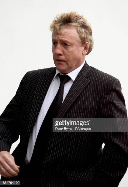 Former footballer Frank McAvennie arrives at the High Bailiff's Court in Douglas Isle of Man charged with affray and disorderly conduct