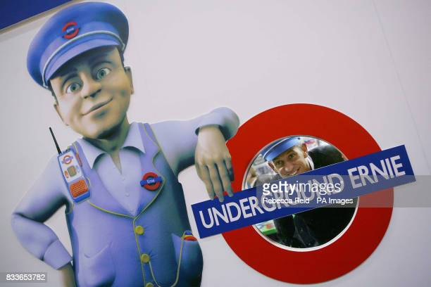 Former footballer Gary Lineker appears with Underground Ernie on the opening day of the Toy Fair at the ExCel centre in east London