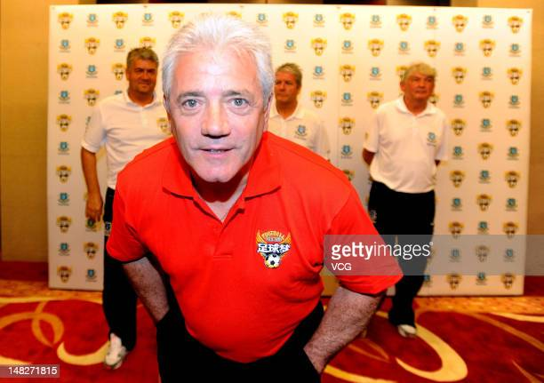 Former footballer Kevin Keegan attends a football event aiming to help Chinese young footballers on July 12 2012 in Shenyang China