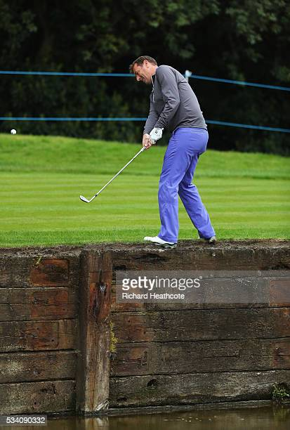Former footballer Matt Le Tissier plays out of trouble during the ProAm prior to the BMW PGA Championship at Wentworth on May 25 2016 in Virginia...