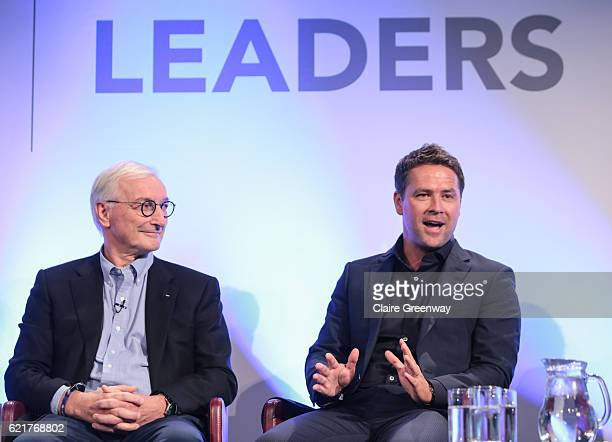 Former footballer Michael Owen and Prof Lars Engebretsen Oslo Sports Trauma Research Centre participate during a Aspetar sponsored panel discussion...