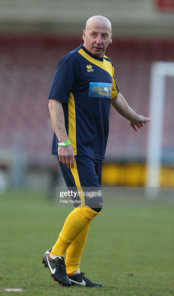 Former footballer Mickey Thomas in action during the William Hill Foundation Cup Celebrity Charity Challenge Match at Sixfields on December 9, 2012 in Northampton, England.