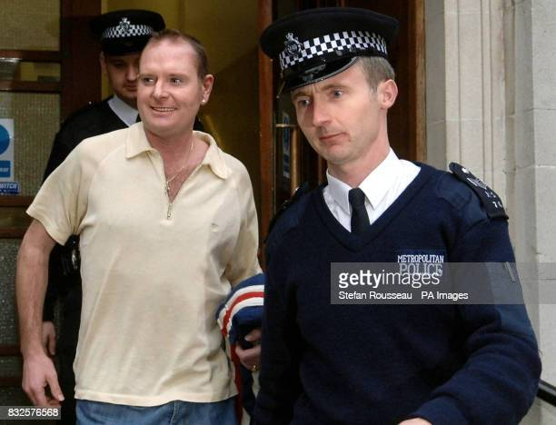 Former footballer Paul Gascoigne leaves Chelsea Police Station in London today after being arrested on suspicion of actual bodily harm