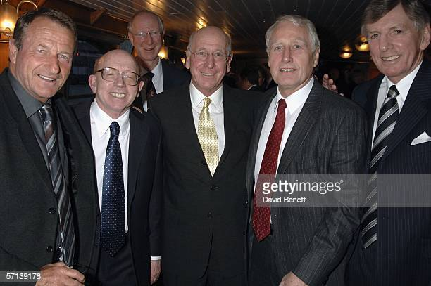Former footballer Roger Hunt Nobby Stiles Jack Charlton Sir Bobby Charlton Hans Tilkowski Martin Peters who played in the 1966 World Cup final cruise...