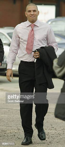 Former footballer Stan Collymore arrives at Stafford Magistrates Court on May 17 2004 in Stafford England Collymore the former Liverpool and Aston...