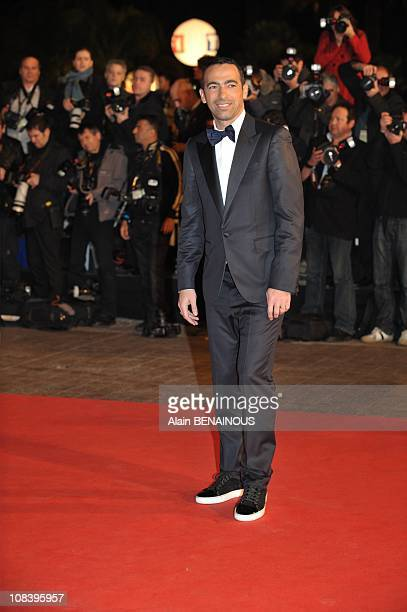 Former footballer Youri Djorkaeff attends the NRJ Music Awards 2009 held at the Festival palace on January 17 2009 in Cannes France in Cannes France...