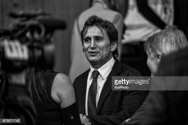 Former Formula One driver and paracyclist Alex Zanardi wins the 4th edition of sportliterature award 'Memo Geremia' at 'Palazzo Bo' Aula Magna' in...
