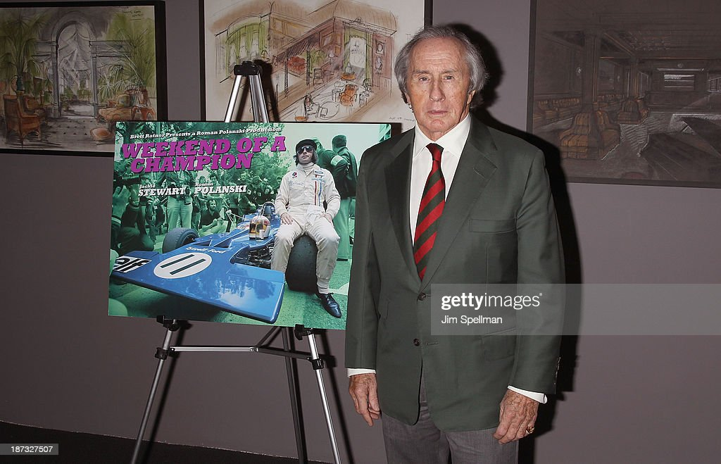 Former Formula One Racing Driver Sir Jackie Stewart attends 'Weekend Of A Champion' Premiere - To Save Project: The 11th MOMA International Festival Of Film Preservation at Museum of Modern Art on November 7, 2013 in New York City.