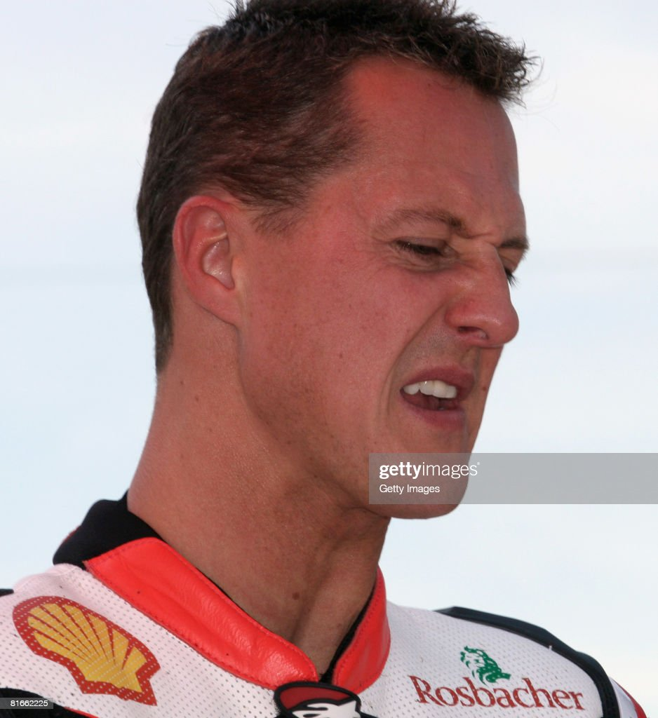Former Formula One world champion Michael Schumacher of Germany competes is pictured before the race of the international German motorbike...