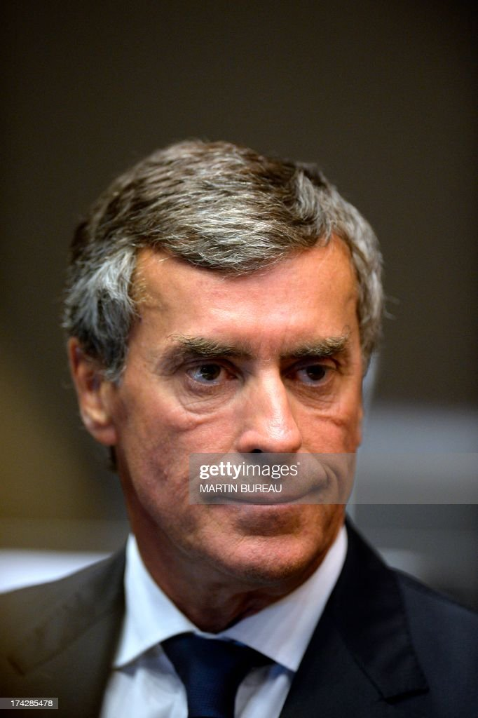 Former French Budget Minister Jerome Cahuzac, who resigned from the government in disgrace over an undeclared Swiss bank account, waits prior to a hearing before a parliamentary probe committee at the French national assembly on July 23, 2013 in Paris.