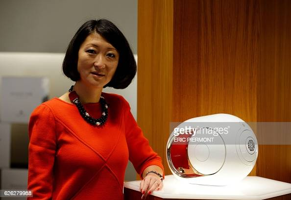 Former French Culture Minister Fleur Pellerin poses at a store of French audio engineering company Devialet in Paris on November 28 2016 Fleur...