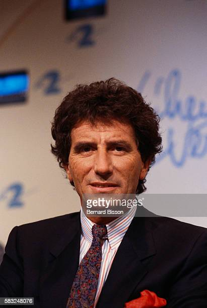Former French culture minister Jack Lang is invited to 'L'Heure de Verite' TV show along with guests Mrs Lang late writer Marguerite Duras late...