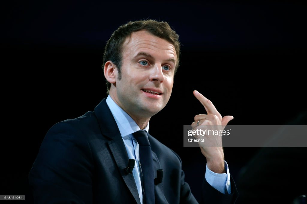"French Candidates For Presidential Election Attend ""Place De La Sante"" Event At Palais Brogniart in Paris"