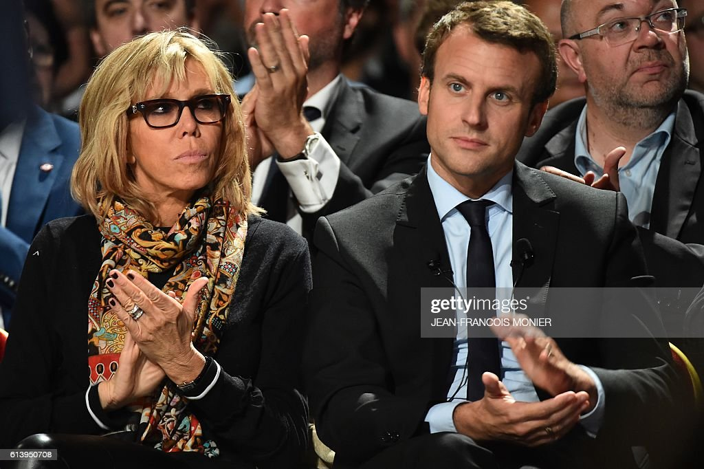 Image result for Emmanuel Macron and wife