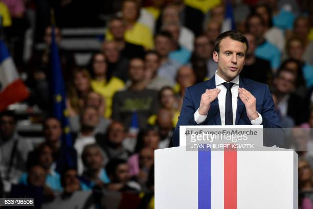 Former French Economy Minister founder and president of the political movement 'En Marche ' and candidate for the France's 2017 presidential...