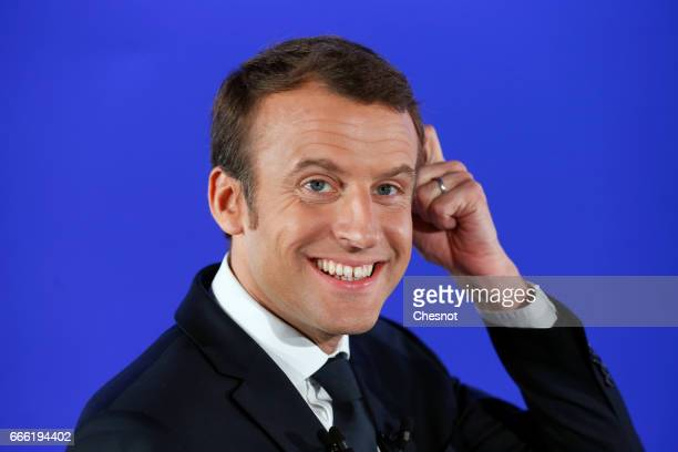 Former French Economy Minister founder and President of the political movement 'En Marche' and French presidential election candidate Emmanuel Macron...