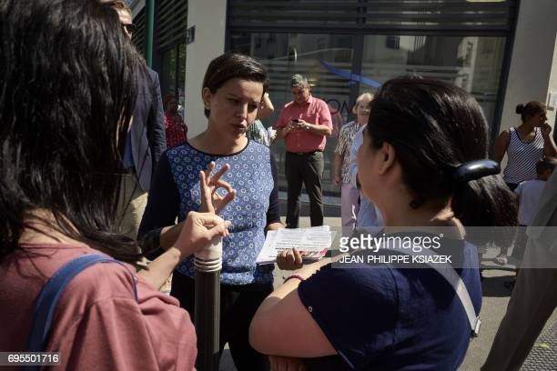 Former French Education Minister and candidate for the France's Socialist political party for the legislative elections in Villeurbanne Najat...