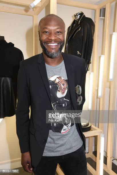 Former French Football player William Gallas pose during during the French Deal Cocktail as part of Paris Fashion Week on June 25 2017 in Paris France