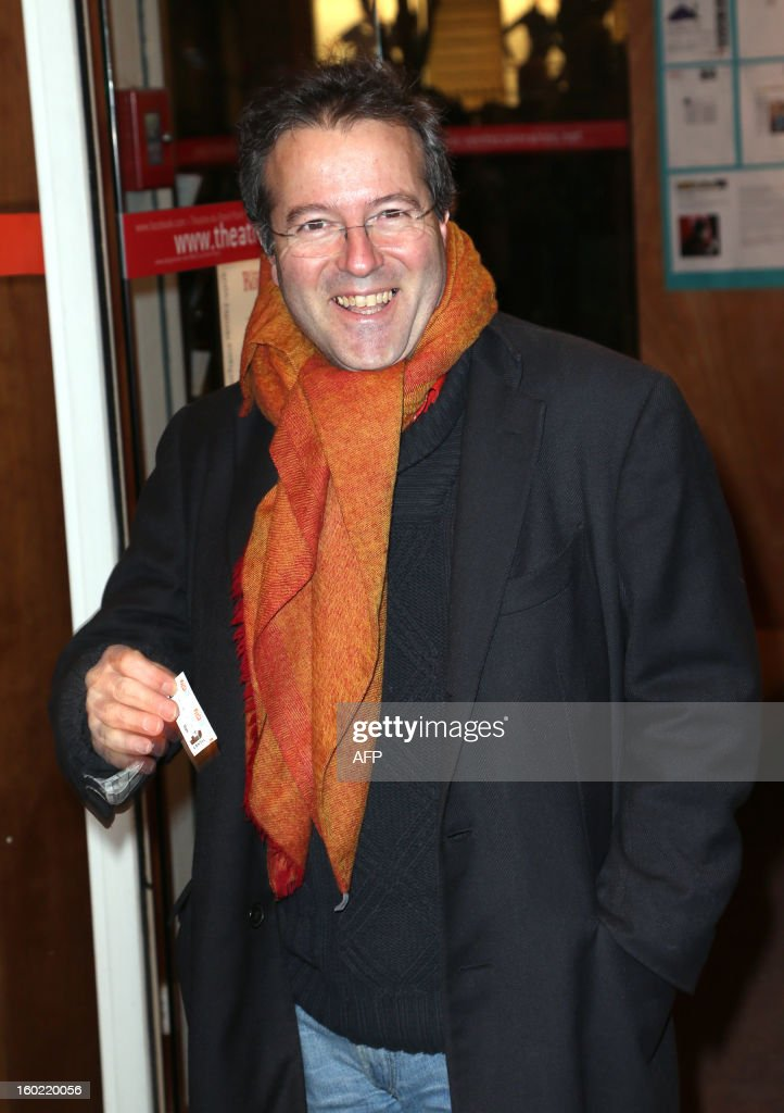 Former French government member Martin Hirsch arrives for a special event gathering artists and celebrities in support of French government plans to legalise gay marriage and same-sex adoption on January 27, 2013 in Paris, two days before parliament takes up the text, which has been met with strong opposition from the right and the Catholic Church.