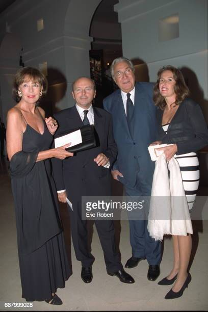 Former French government minister Jacques Toubon with his wife Lisa and JeanMarie and Maria Car man Rossi