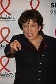 Former French Health Minister Roselyne Bachelot poses on March 2 2015 upon his arrival for the annual Sidaction fundraiser to finance HIVAIDS...