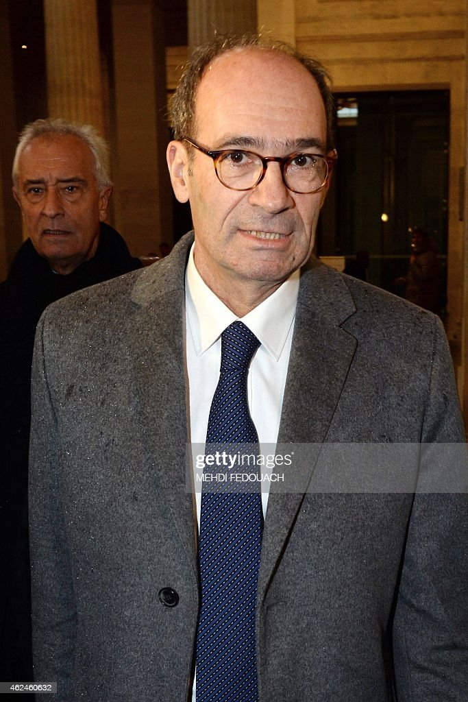 Former French minister and former treasurer of the right-wing UMP party, Eric Woerth arrives at the Bordeaux courthouse on January 29, 2015 for the 4th day of the trial of ten people charged with exploiting France's richest woman Liliane Bettencourt. 10 members of Bettencourt's entourage are accused of taking advantage of the 92-year-old billionaire's growing mental fragility in an explosive legal and political drama.