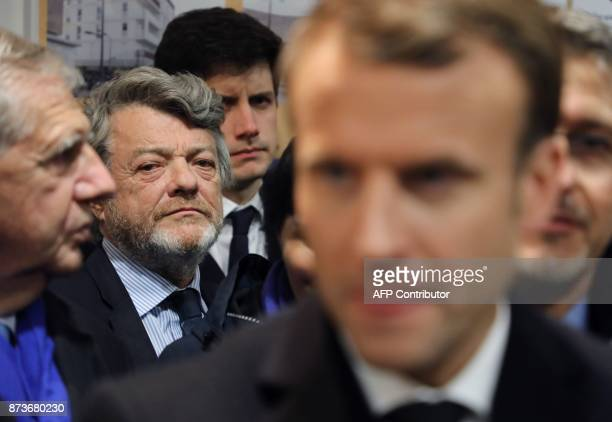 Former French minister and President of the Fondation Energies pour l'Afrique JeanLouis Borloo looks on during a visit of French President Emmanuel...