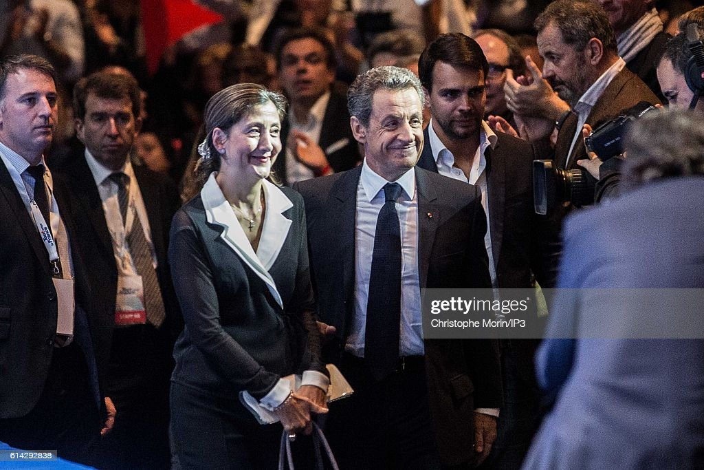 Meeting Of Nicolas Sarkozy For The Presidential Primary Campaign Of LR Party