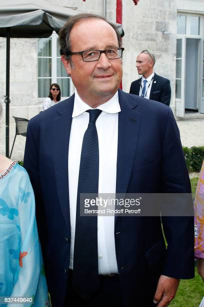 Former French President Francois Hollande attends the 10th Angouleme FrenchSpeaking Film Festival Day One on August 22 2017 in Angouleme France