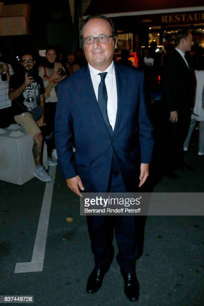Former French President Francois Hollande attends the 10th Angouleme FrenchSpeaking Film Festival Dinner after the Opening Ceremony on August 22 2017...