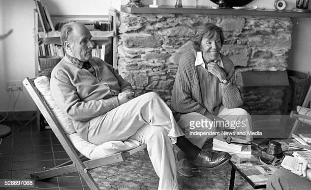 Former French President Francois Mitterand relaxes with friend Bennitte Groult during a short break at their summer home in Bunavalla Caherdaniel...