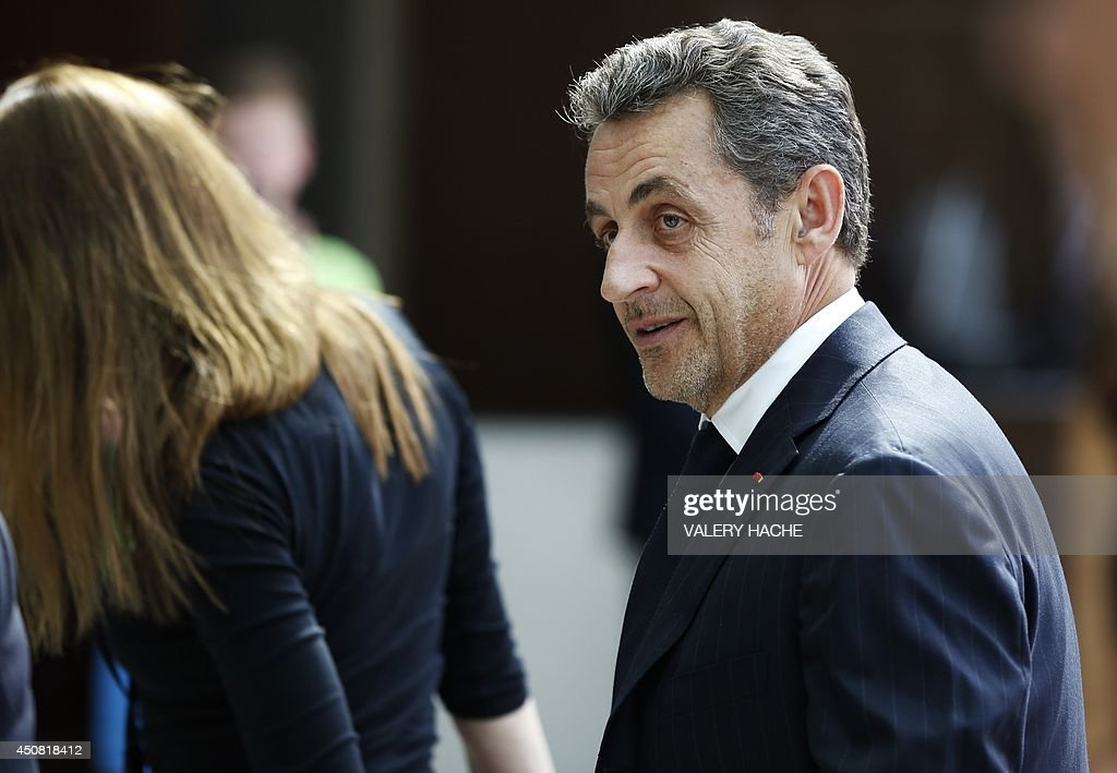 Former French president <a gi-track='captionPersonalityLinkClicked' href=/galleries/search?phrase=Nicolas+Sarkozy&family=editorial&specificpeople=211375 ng-click='$event.stopPropagation()'>Nicolas Sarkozy</a> arrives at the Fairmont Hotel for a private conference on June 18, 2014 in Monaco. AFP PHOTO / VALERY HACHE