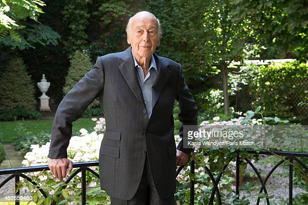 Former french President Valery Giscard D'estaing is photographed for Paris Match at home in Paris on June 24 2014