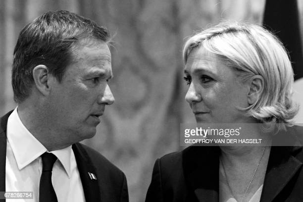 Former French presidential election candidate for the rightwing Debout la France party Nicolas DupontAignan and French presidential election...