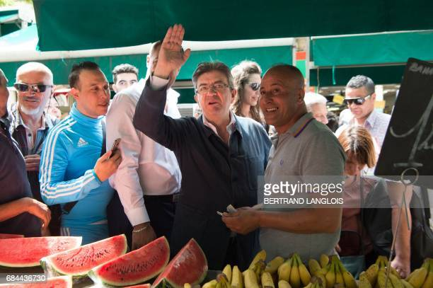 Former French presidential election candidate JeanLuc Melenchon candidate in Marseille in the upcoming parliamentary elections for the farleft...