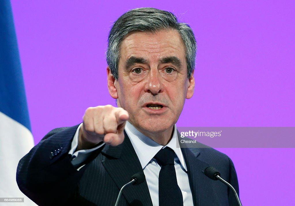 French Presidential Candidate Francois Fillon Hosts Rally Party in Provins